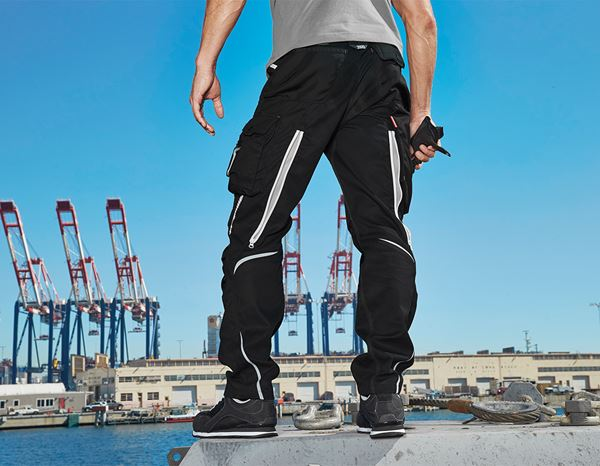 Work Trousers: Trousers e.s.motion 2020 + black/platinum 1