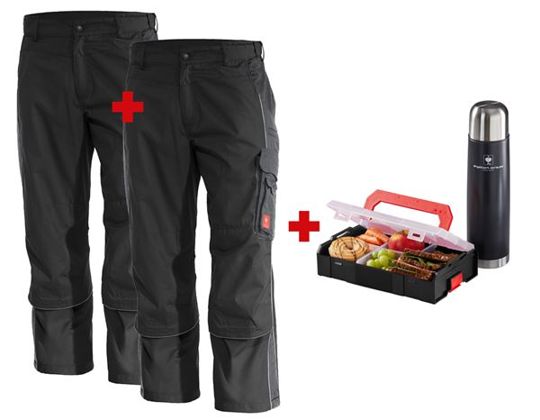 Christmas: Set: 2x Trousers e.s.active + black/anthracite
