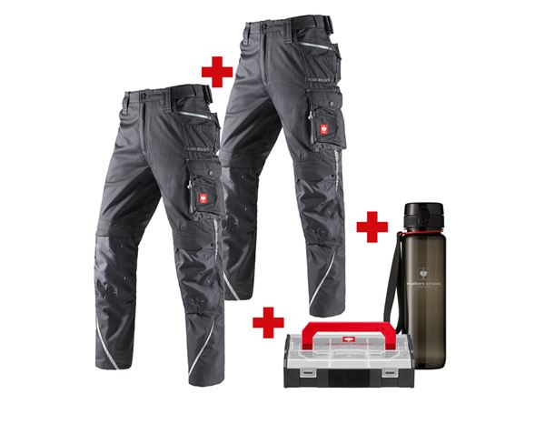 Christmas-Combo-Sets: SET: Trousers +Trousers e.s.motion 2020 Winter + anthracite/platinum