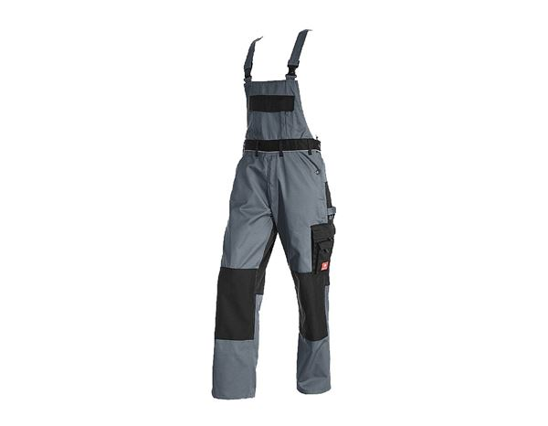 Work Trousers: Bib & Brace e.s.image + grey/black