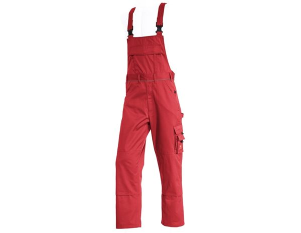 Work Trousers: Bib & brace e.s.classic  + red