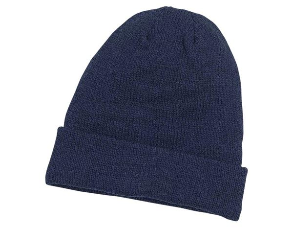 Accessories: Knitted hat Jan Thinsulate + navy blue