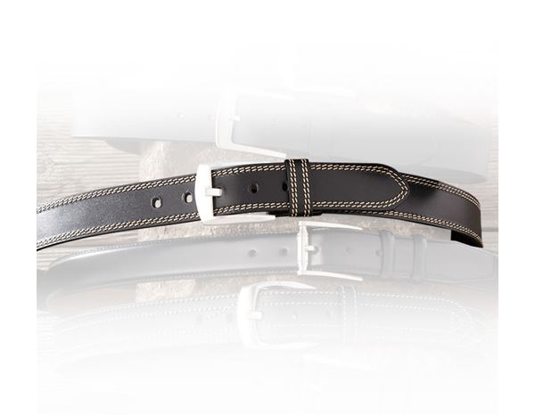 Accessories: Leather belt Brody + black