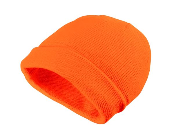 Accessories: Winter knitted cap Neon + orange