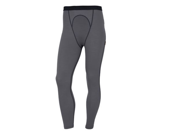 Thermal Underwear: e.s. Long-pants Merino, men's + cement/graphite