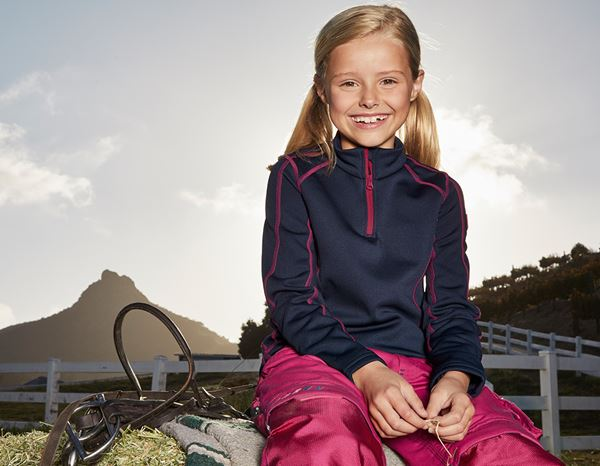 Shirts, Pullover & more: Funct.Troyer thermo stretch e.s.motion 2020 child. + navy/berry