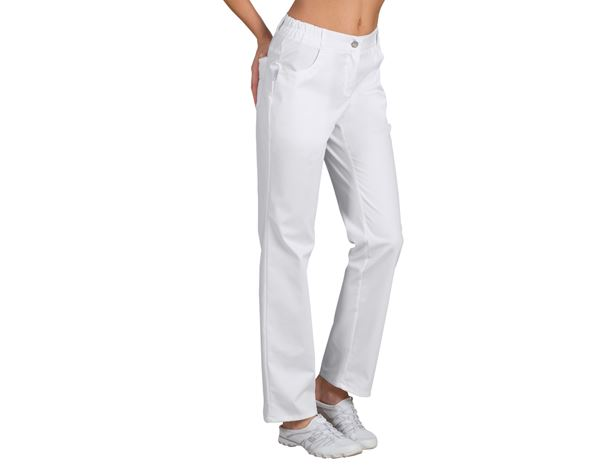 Work Trousers: Ladies' Trousers Winnie + white