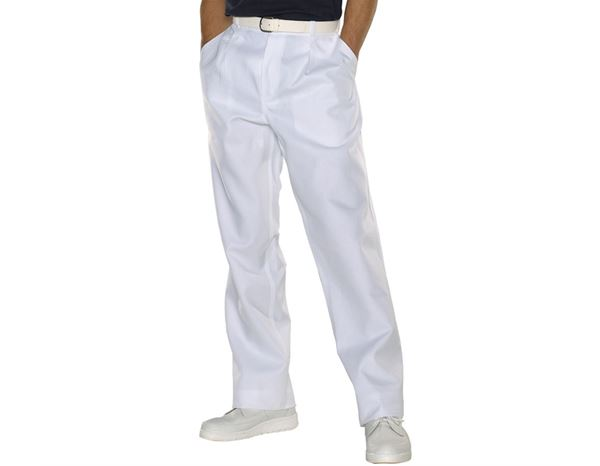 Medical / Healthcare Trousers: Men's Trousers Tom + white