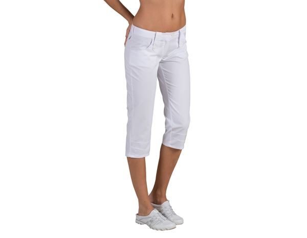 Medical / Healthcare Trousers: Capri Amy + white