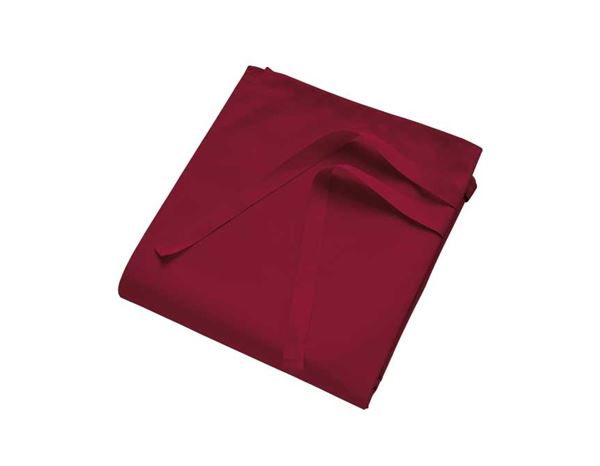 Catering Aprons: Side-Slit Long Apron + bordeaux