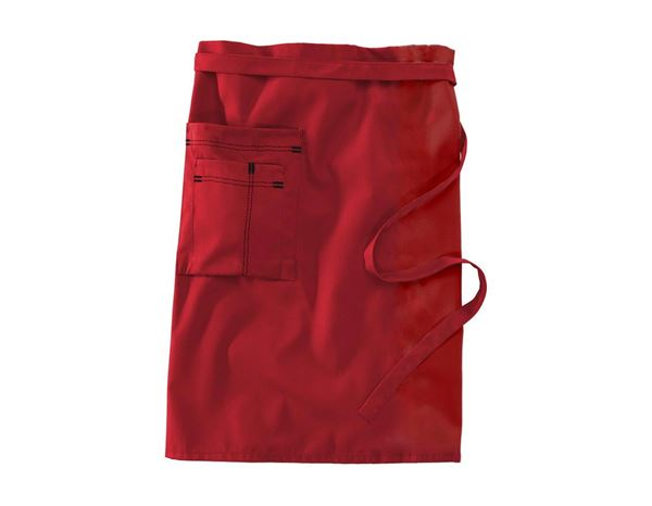 Aprons: Mid-Length Apron + red/black