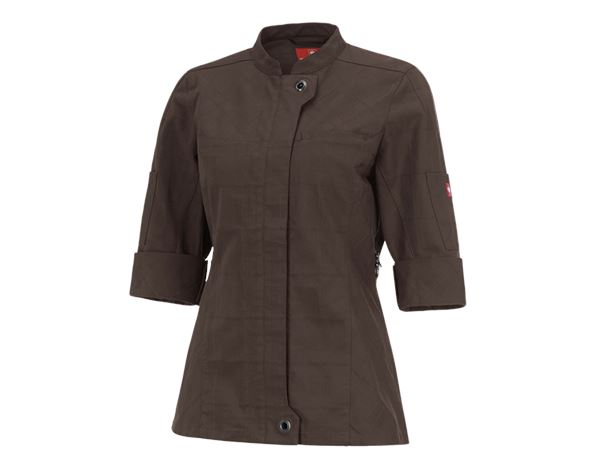 Shirts, Pullover & more: Work jacket 3/4-sleeve e.s.fusion, ladies' + chestnut