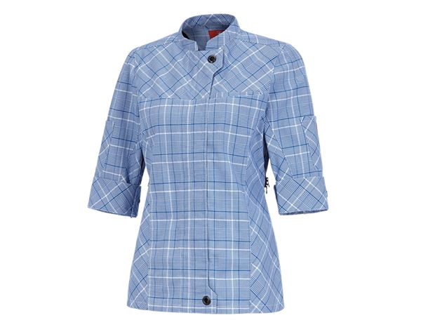 Shirts, Pullover & more: Work jacket 3/4-sleeve e.s.fusion, ladies' + blue/white