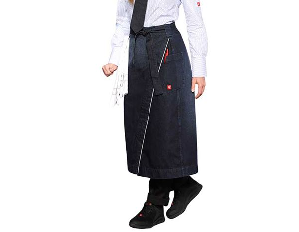 Aprons: Catering Apron denim e.s.fusion, ladies' + stonewashed