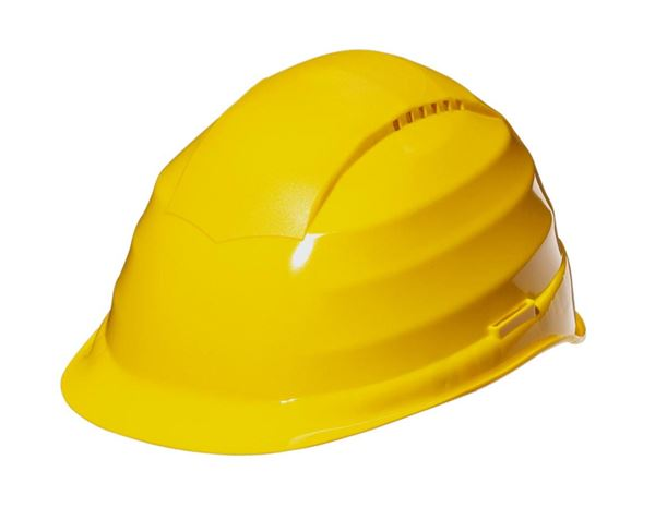 Hard Hats: Safety helmet, 6-point + yellow