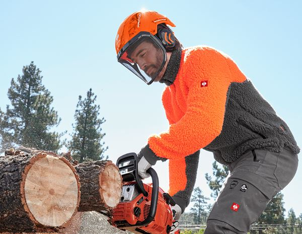 Hard Hats: e.s. Forestry helmet Protos® + high-vis orange woodprint 2