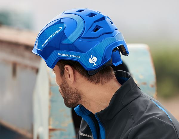 Hard Hats: e.s. Work helmet Protos® + blue/gentian blue 4