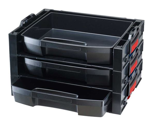 System boxes: e.s. i-Rack active + black/red 2