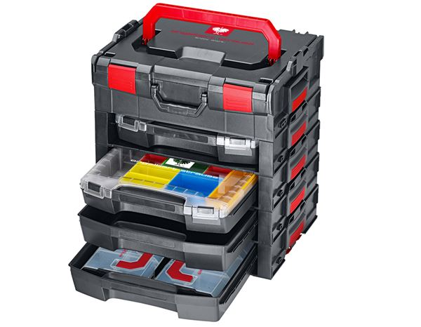 System boxes: e.s. i-Rack active + black/red 10