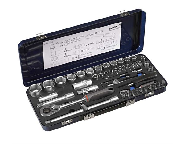 Spanners / Ratchets: Socket set Xi-On 1/4 + 1/2