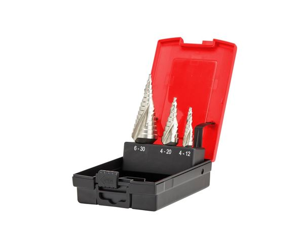 Drill Bits: e.s. Step drill set HSS-G ultimate 3