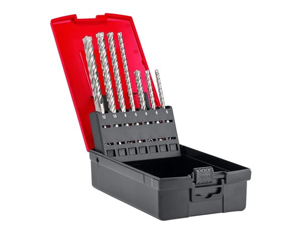 Drill Bits: e.s. 4-blade stone drill set SDS-plus ultimate