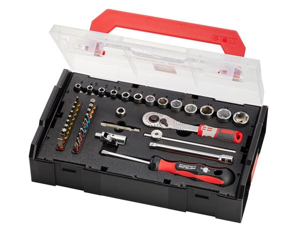 Spanners / Ratchets: e.s. Socket wrench set pro 1/4 in e.s. Boxx mini 1