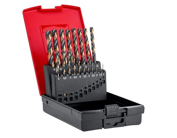e.s. HSS-CO metal spiral drill set turbo
