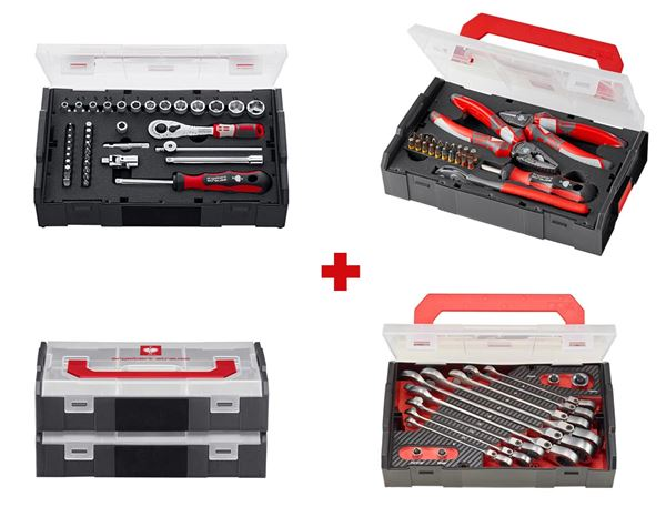 Tool Cases: e.s. Boxx mini socket wrench set pro IV 1