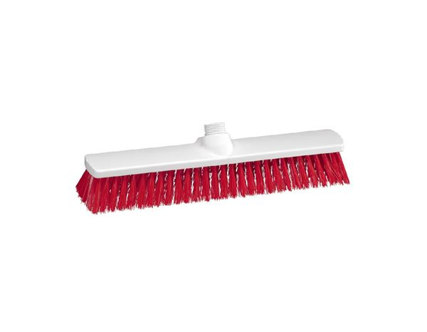 Brooms / Brushes / Scrubbing  Brushes: Outdoor Broom + red
