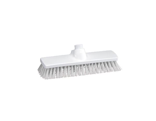 Brooms / Brushes / Scrubbing  Brushes: Broad surface scrubber, High + transparent
