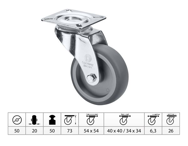 Spare casters/wheels: Guide Roll