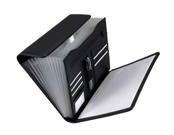 Organiser Books: Alassio Partition folder + black
