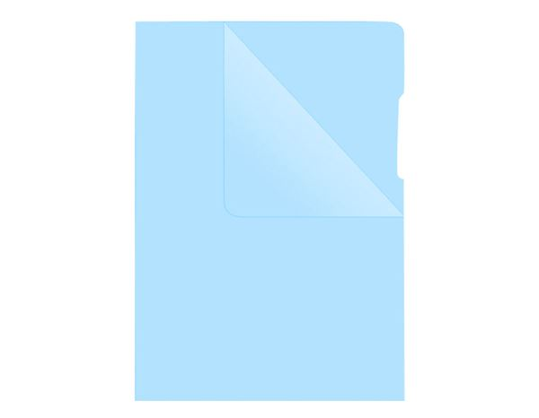 Clear Pockets: Plastic sleeves + blue