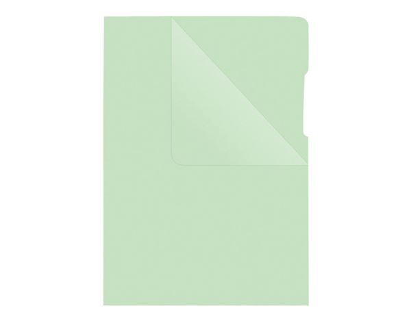 Clear Pockets: Plastic sleeves + green