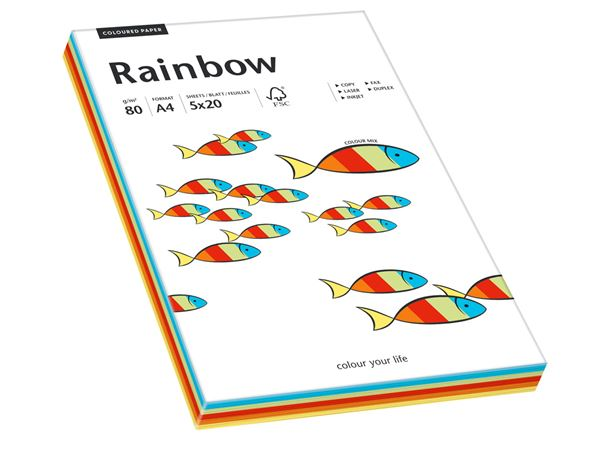 Paper products: Rainbow 80 + assorted colours