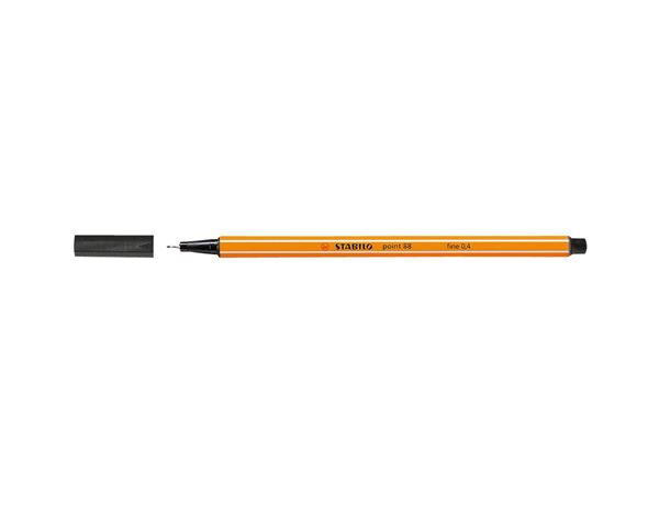 Pencils / Pens / Markers: Stabilo Fineliner Point 88, Pack of 10 + black