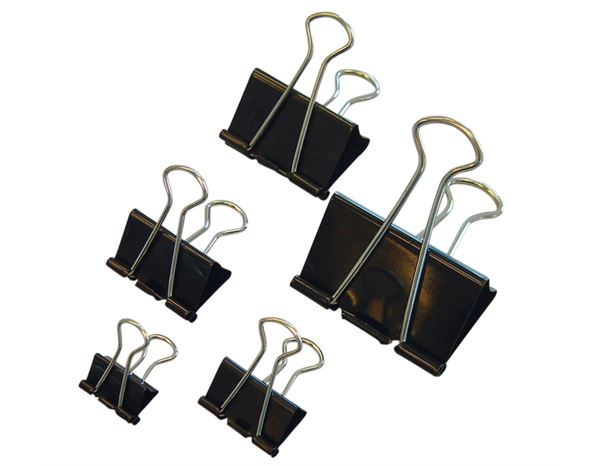 Assorted Supplies: MAUL Folder-Back Clips + black