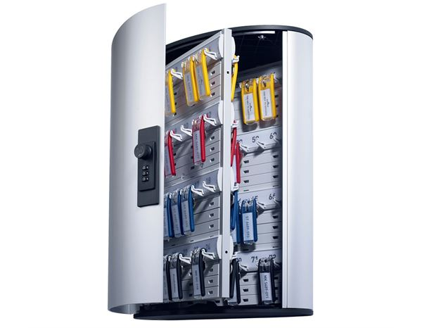 Storage: DURABLE key cabinet with number lock + silver-metallic 1