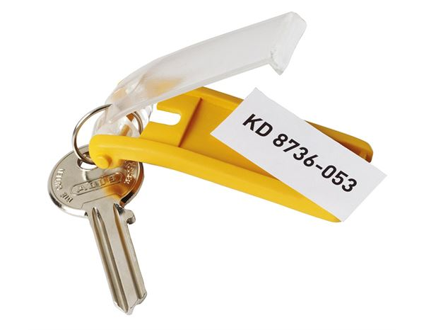 Assorted Supplies: DURABLE key ring KEY CLIP, pack of 6 + yellow 1